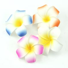 10pcs Plumeria Hawaiian Foam Frangipani Flower For Wedding Party Decor