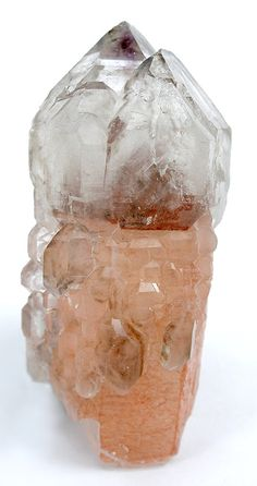 Quartz sceptre with included Hematite with hint of Smoky Quartz and Amethyst / Oranje River, Namibia