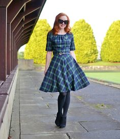 Forever Amber  Boden Isla dress in blackwatch check