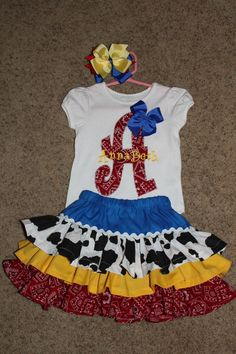 Toy Story Jessie inspired outfit by PisForPigTails on Etsy, $65.00 @Ashley Moran