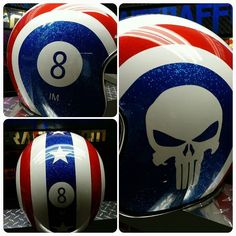 Custom Airbrushed Motorcycle Helmet by Airgraffix.com 311