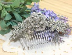 Long Elegant Crystal Wedding Bridal Poem Rose by blinggarden, $39.99
