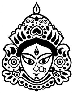 Goddess Durga Face Mask Coloring Pages   Coloring