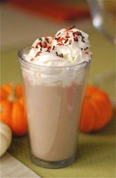 5. Pumpkin Spice White Hot Chocolate