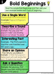 Task Shakti - A Earn Get Problem Improve Student Writing With Bold Beginnings, Mighty Middles And Excellent Endings Create Dream Explore Writing Traits, Paragraph Writing, Writing Strategies, Narrative Writing, Writing Lessons, Writing Resources, Teaching Writing, Writing Activities, Writing Skills