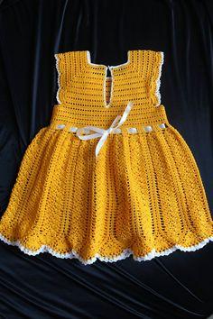 Knitted baby dress Crochet baby dress Handknitted dress Knitted lace dress Children's dress Sarafan for kids Yellow dress Summer dress Baby Girl Frocks, Frocks For Girls, Crochet Baby, Knitted Baby, Free Crochet, Yellow Dress Summer, Knit Baby Dress, Baby Girl Fashion, Lace Knitting