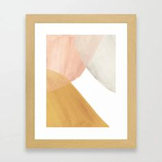 Buy Terracotta and pink watercolor shapes Framed Art Print by whalesway. Worldwide shipping available at Society6.com. Just one of millions of high quality products available. Orange Home Decor, Orange House, Burnt Orange Color, Pink Watercolor, Meet The Artist, Whales, House Colors, Framed Art Prints, Terracotta