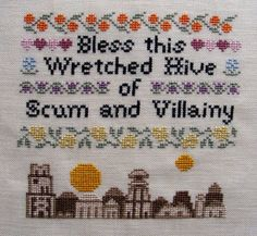 This is probably my best pattern ever. I spent much of my youth watching the original Star Wars trilogy a minimum of twice a month. Now that Ive built my own hive of scum and villainy, I thought it needed this classic sampler. When stitched on 14 ct fabric this measure 6 1/8