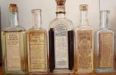 Medicine Bottles Opium Laudanum Balsam Cure 1800's  $76.00