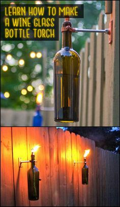 Make good use of those old wine bottles and create your own tiki torches at home!