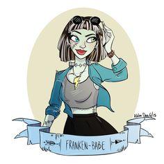 A little doodle of Fankie Stein!! I know I'm frikken 21 but I don't…