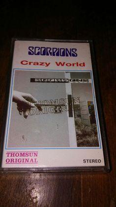 Crazy World by Scorpions (Cassette,Thomsun original, Nov-1990, Mercury) #HardRock