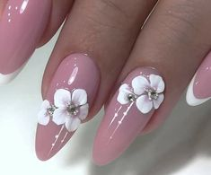 The Effective Pictures We Offer You About wedding nails for bride blush A quality picture can tell you many things. You can find the most beautiful pictures that can be presented to you about wedding Wedding Nails For Bride, Bride Nails, Wedding Nails Design, 3d Nail Art, 3d Nails, Pink Nails, Best Acrylic Nails, Acrylic Nail Designs, Nail Art Designs