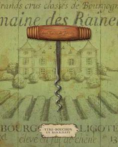 Antique Corkscrew I Green by  Daphne Brissonnet