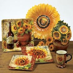 sunflower dishes images | Certified International Tuscan Sunflower Collection by Tre Sorelle ...