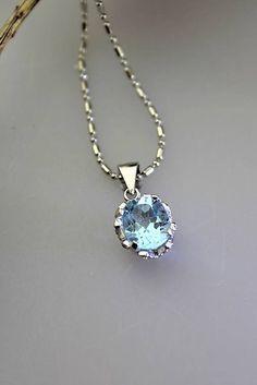 Sima-polodrahokamy / topaz prívsok - v striebre (ródiované striebro) Topaz, Pendant Necklace, Jewelry, Jewlery, Jewels, Jewerly, Jewelery, Drop Necklace, Accessories
