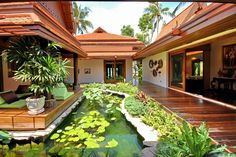 The accommodation is situated around a central lotus pond with feature sala, all housed within several Thai style buildings.