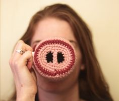Crochet Pig Nose Coffee Mug Coaster Cozy by ThingamabobsAPlenty, $10.00