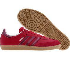 Adidas Womens Samba (sha red / pink metallic / zermet) G22476 - $64.99 Ivy League Universities, Adidas Samba, Sock Shoes, Red And Pink, Adidas Women, Adidas Sneakers, Kicks, My Style, Lady