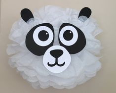 Panda Bear pom pom kit noahs ark baby shower first birthday party decoration