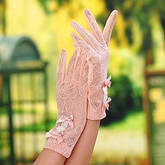 Luva Luvas de Uso Geral & Para Trabalho/Luvas de Noiva/Luvas de Festa Até o Pulso Com Dedos Renda de 2015 por R$41,87