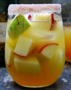 APPLE CIDER CHAMPAGNE PUNCH COCKTAILS Ingredients: 1 Bottle Chilled Champagne ½ Cup Peach Schnapps 2 ½ Cups Fresh Apple Cider 2 Honeycrisp® ...