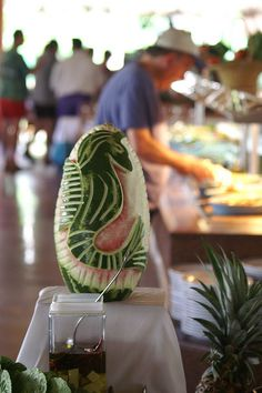 Check out these pictures of melon art. There are many beautiful sculptures made from melons!