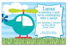 helicopter birthday invitations - Google Search