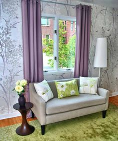 Motif Wallpaper Dinding Jeff Lewis Design Botanical Home Living Room Modern