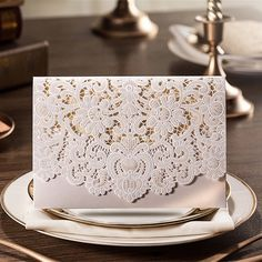Amazon.com: H&D 12pcs Wedding Invitations Laser Flowers Greeting Hollow Out Cut Paper Cards Party Decoration Wedding Favors (white): Health & Personal Care