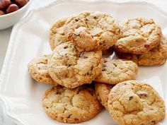 Hazelnut Chocolate Chip Cookies. Looks like a GREAT choice for our Christmas cookies this year!