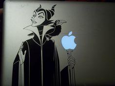 Maleficent Macbook Vinyl Decal. $9.99, via Etsy.