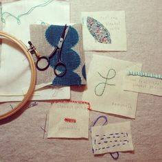 from the workshop at purl soho [these were lotta jansdotter's]