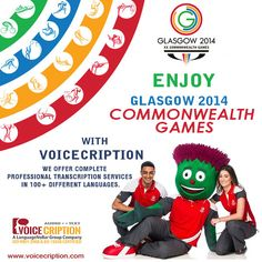 #Voicecription - Professional #TranscriptionCompany   Special offer on all transcriptions for this #Commonwealth Games, Glasgow 2014