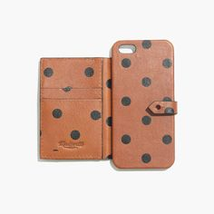 Madewell's leather iPhone case ($34) has a polka-dot print that's too cute for words.