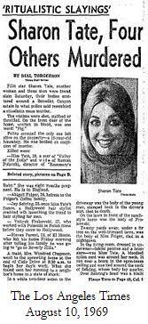 Charles Manson - The LA Times Sharon Tate Murder - August 1969 Newspaper Headlines, Old Newspaper, Newspaper Article, Charles Manson, Famous Murders, Front Page News, Major Crimes, Foto Real, Roman Polanski