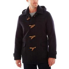 $69, Duffle Coat Charcoal by Claiborne. Sold by jcpenney. Click for more info: http://lookastic.com/men/shop_items/47537/redirect