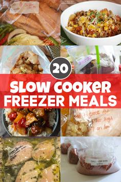 Meal Prep Madness with these 20 amazing slow cooker freezer meals.  Here are the easy steps, hints and tricks to make dump and go meals for those days where you are just too busy.  Literally, dump the ziplock bag of frozen ingredients into the crock pot and go! It can't get easier than this! #crockpot #freezermeals #slowcooker #mealprep  via @savorandsavvy