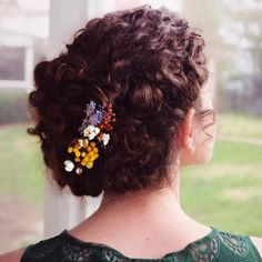 Romantic Updo for Naturally Curly Hair
