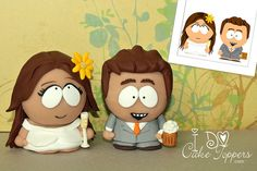 Topo de Bolo criativo - South Park wedding