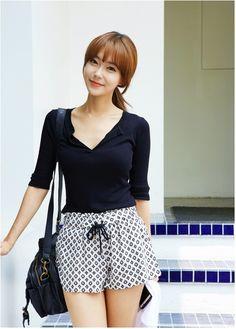 Almond Banding Shorts summer korean fashion