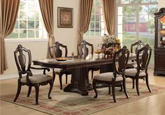Lacks | Aria 9-Pc Dining Room Set | Traditional Style Home ...