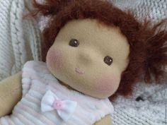 Купить Малышка, 27 см - бледно-розовый, вальдорфская кукла, вальдорфская игрушка