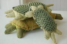 soft sculpture turtles. Nice.