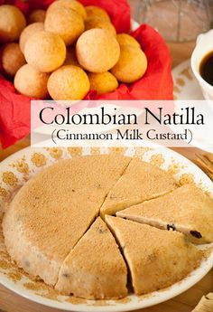 Natilla is a firm milk custard infused with cinnamon and served with buñuelos (fritters) during Christmas time in Colombia. Best Dessert Recipes, Fun Desserts, Sweet Recipes, Holiday Recipes, Delicious Desserts, Yummy Recipes, Chocolate Desserts, Christmas Recipes, Cooking Recipes