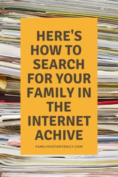 Internet Archive has made finding family history records simple by providing a specific portal dedicated to genealogy. At the time of writing, this free resource contained 129,580 items of valuable genealogical information and it is continually growing.