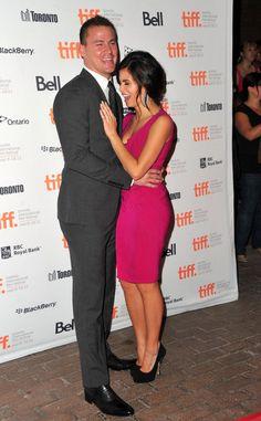"Channing Tatum and Jenna Dewan-Tatum sharing a laugh at the ""Ten Year"" Premiere at the 2011 Toronto International Film Festival."
