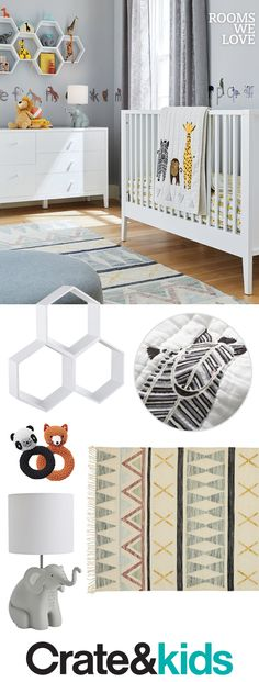 Fantastic Totally Free Farmhouse Bedding joanna gaines Popular Farmhouse style bedding includes a certain feel to it. Light, clean , crisp, neutral and rustic are Baby Boy Nursery Themes, Baby Boy Rooms, Baby Room Decor, Baby Boy Nurseries, Nursery Room, Nursery Ideas, Bed Room, Room Ideas, Jungle Theme Nursery