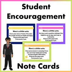 These encouragement note cards are a great way to encourage good character and help build student relationships.This bundle includes:* 12 Encouragement cards 3 Blank… Primary Classroom, Elementary Teacher, School Classroom, Elementary Education, Behavior Management Strategies, Classroom Management, Classroom Organization, Encouraging Notes For Students, Teacher Resources
