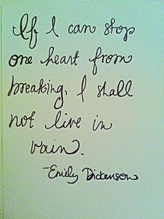 Well said, Emily Dickinson.